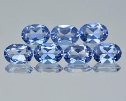 Azotic Blue Topaz 6.71 Cts  7 Pcs English Blue Color Natural Gemstone- Parc