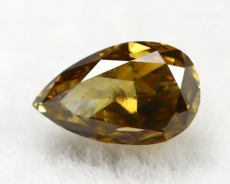Yellowish Orange Diamond 0.20Ct Natural Untreated Genuine Diamond B0841