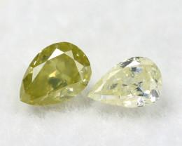 Greenish Yellow Diamond 0.24Ct Natural Untreated Genuine Diamond B0843