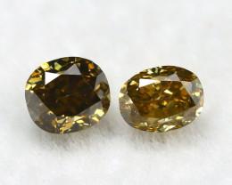 Yellowish Orange Diamond 0.31Ct Natural Untreated Genuine Diamond B0844