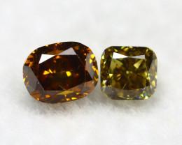 Yellowish Orange Diamond 0.31Ct Natural Untreated Genuine Diamond A0837
