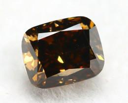 Yellowish Brown Diamond 0.30Ct Natural Untreated Genuine Diamond C0841
