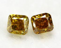 Yellowish Orange Diamond 0.20Ct Natural Untreated Genuine Diamond C0843