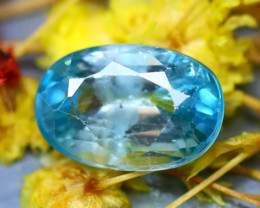 Blue Zircon 3.60Ct Natural Cambodian Blue Zircon D1208/B6