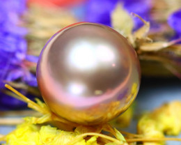 11.70MM 11.63Ct Natural Tahitian Light Aubergine Color Pearl D1213/A244