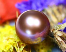 11.10MM 9.95Ct Natural Tahiti Aubergine Color Pearl D1215/A244