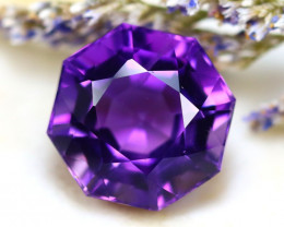 Amethyst  10.32Ct Natural Uruguay Electric Purple Amethyst D1224/C4