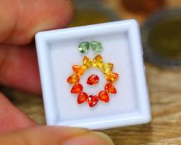 2.76ct Natural Fancy Color Sapphire Pear Cut Lot GW174