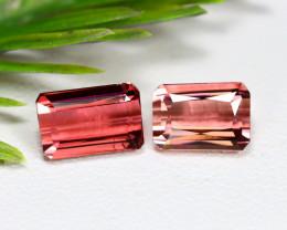 Paprok Tourmaline 3.49Ct 2Pcs Octagon Cut Natural Pink Tourmaline C0818