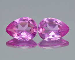 Pink Topaz 2.59 Cts 2Pcs Rare Awesome Fancy Natural gemstone- Pair