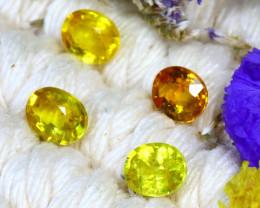 Fancy Sapphire 2.40Ct 4Pcs Natural Fancy Yellow Sapphire ER685/A16