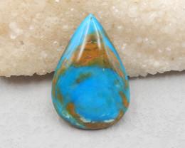 D2892 - 77.5cts High quality Blue Opal Flatback Teardrop Gemstone Cabochon,