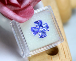 Tanzanite 2.73Ct 4Pcs Natural VVS Purplish Blue Tanzanite DR698/A45