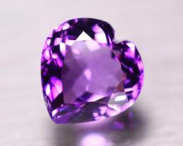 9.11ct Natural Purple Amethyst Heart Cut Lot LZ690