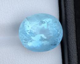 HGTL CERTIFIED 2000$ Natural Aquamarine 9.35 cts Gorgeous Color Badakhshan