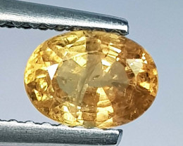 1.14 ct Natural Yellow  Sapphire Oval Cut