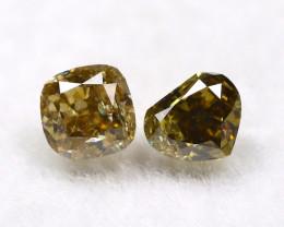 Yellowish Orange Diamond 0.28Ct Natural Untreated Genuine Diamond B1043