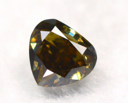 Yellowish Brown Diamond 0.30Ct Natural Untreated Genuine Diamond A1039