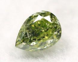 Green Diamond 0.24Ct Natural Untreated Genuine Diamond A1040