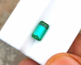 1.75 Carats Natual Blueish Green Tourmaline Cut Stone from Afghanistan