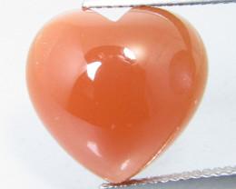9.93Cts Amazing Natural Orange Moonstone Heart Shape Loose Gemstone