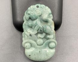 59.60 Cts Excellent Hand Carved Burmese Jade. Jdp-5400
