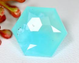 Peruvian Opal 5.57Ct Master Cut Natural Peruvian Blue Opal A1115