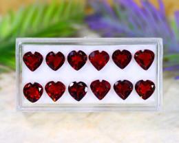 Almandine 12.92Ct VVS Heart Cut Natural Almandine Garnet Lot B1125