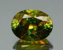 *$15NR* Multicolor Dispersion Chrome Green Sphene 0.61Ct.