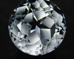 4.37Cts Genuine Amazing Unheated Round precision Cut White Topaz