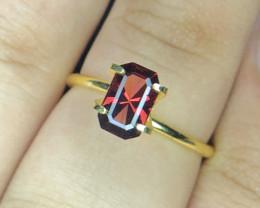 *NR*1.54(ct)Malawi Garnet Nice Color Faceted Gemstone