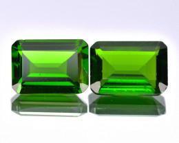 Chrome Diopside 1.11 Cts 2 pcs Vivid Green Color Natural Gemstone