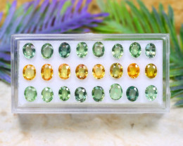 Sapphire 9.66Ct Oval Cut Natural Yellow Green Color Sapphire Lot B1236