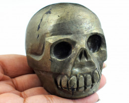 Genuine 1910.00  Cts  Pyrite Carved Skull