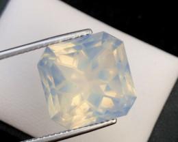 18.95Ct Top Asscher Cut Pink Moonstone