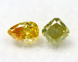 Yellowish Orange Diamond 0.32Ct Natural Untreated Genuine Diamond B1239