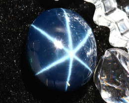 Star Sapphire 28.70Ct Natural 6 Rays Blue Star Sapphire DR650/A39