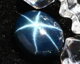 Star Sapphire 15.22Ct Natural 6 Rays Blue Star Sapphire DR651/A39