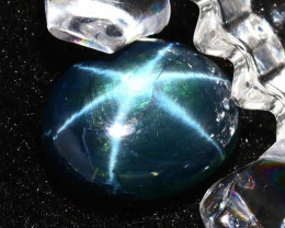 Star Sapphire 20.06Ct Natural 6 Rays Blue Star Sapphire DR653/A39