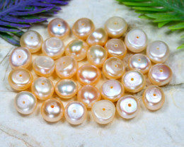 8.4mm 90.10Ct Natural Freshwater Creamy White Pearl Drilled C1208