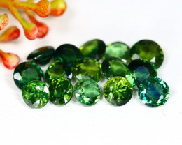 Sapphire 8.54Ct Round Cut Natural Australian Green Sapphire Lot C1220