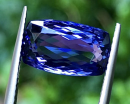 5.81ct Vivid Green Tanzanite With Excellent Luster And Fine Cutting Gemsto