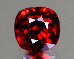 Red Spinel 1.40Ct VVS Cushion Cut Natural Burmese Red Spinel LX100