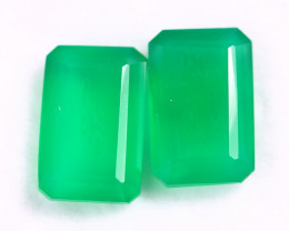 9.12cts Natural Green Onyx Pairs /MAOX2754