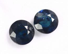 3.60cts Natural Dark Blue Sapphire Pairs /MAY2760