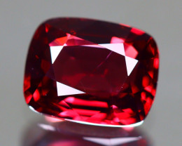 Red Spinel 1.50Ct Cushion Cut Natural Burmese Red Spinel LX107
