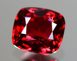 Red Spinel 1.23Ct VVS Cushion Cut Natural Burmese Red Spinel LX109