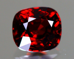 Red Spinel 1.11Ct VVS Cushion Cut Natural Burmese Red Spinel LX110