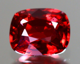 Red Spinel 1.10Ct VVS Cushion Cut Natural Burmese Red Spinel LX112