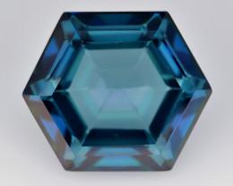 Azotic Topaz 9.40 Cts Fancy Cut Blue Color Natural Gemstone